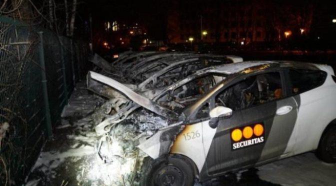 Niemcy, Berlin: Atak na firmę Securitas dokonany przez Globalną Anarchistyczną Partyzantkę Uliczną