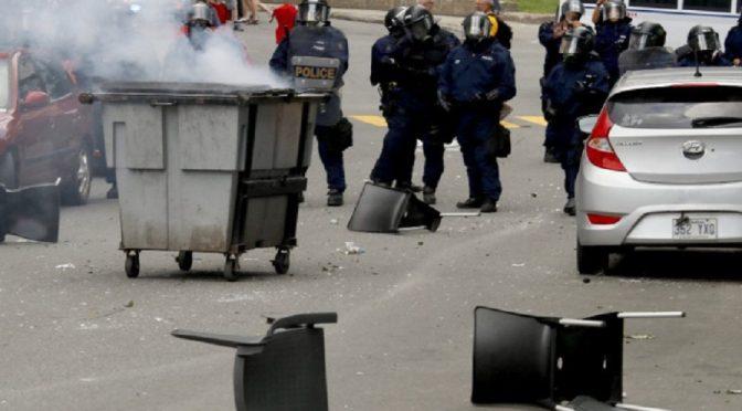 Quebec, Kanada: Antyfaszyści skutecznie blokują faszystowski pochód (wideo)