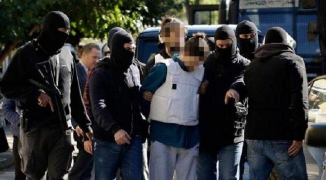 Ateny, Grecja: Solidarność z aresztowanym towarzyszem Konstantino G.
