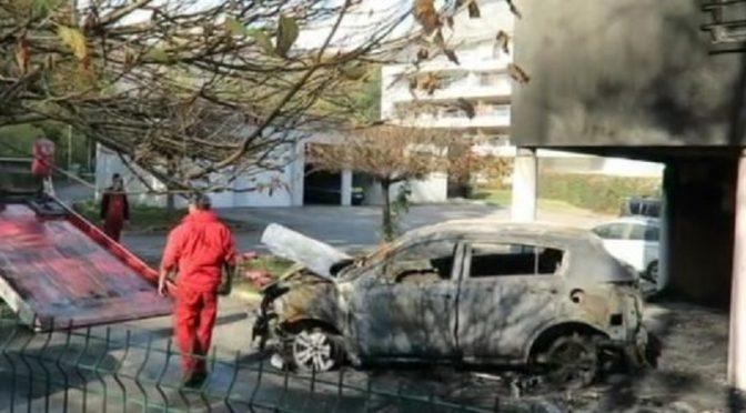 Meylan, Francja: Podpalenie koszar żandarmerii