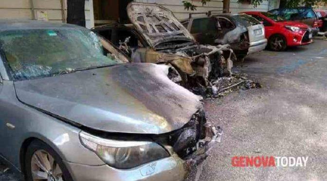 Genua, Włochy: Podpalenia w solidarności z represjonowanymi towarzyszami