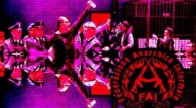 Więzienie w Ferrarze, Włochy: Kolejny tekst towarzysza anarchisty Alfredo Cospito