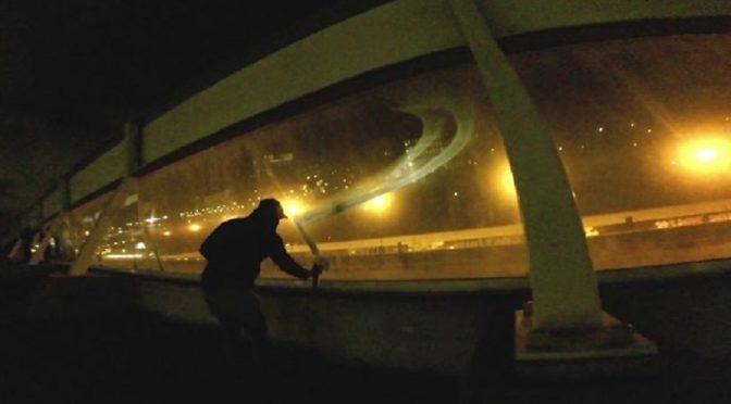 Haga, Holandia: Spalić wszystkie więzienia – solidarnościowe graffiti (wideo)