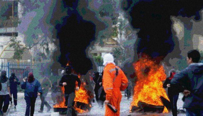 Valapariso, Chile: Starcia i barykady przy Uniwersytecie Playa Ancha w odpowiedzi na Czarny Grudzień