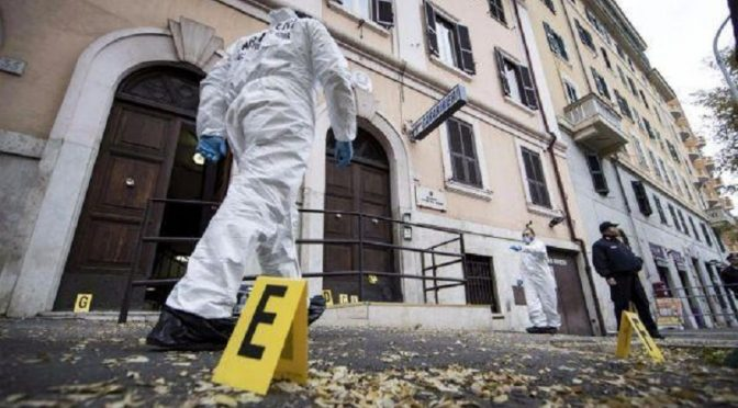 Rzym, Włochy: Podłożenie ładunków wybuchowych pod komisariat policyjnych karabinierów przez komórkę FAI-FRI imienia Santiago Maldonado