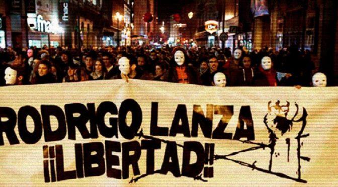 Zaragoza, Hiszpania: Aktualizacja od rodziny uwięzionego antyfaszysty, towarzysza Rodrigo Lanzy