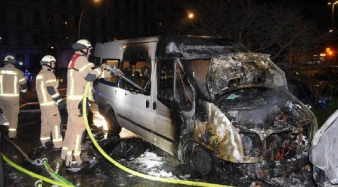 Berlin, Niemcy: Podpalenie pojazdu należącego do tureckich fundamentalistów przez Komórkę Zemsty Kendal Breizh w Solidarności z Afrin