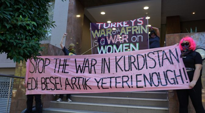 Melbourne, Australia: Akcja w tureckim konsulacie w Międzynarodowy Dzień Kobiet w Solidarności z Afrin (wideo)