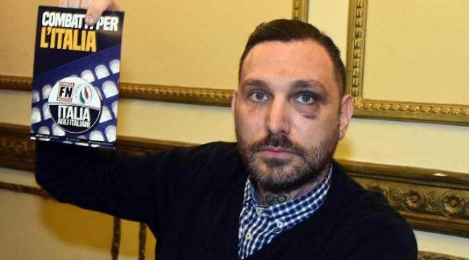 """Włochy: """"Nie boimy się walczyć"""". Antyfaszyści napadli i związali kandydata Forza Nuova (wideo)"""