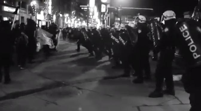 Montreal, Kanada: Anarchiści ścierają się z policją (wideo)