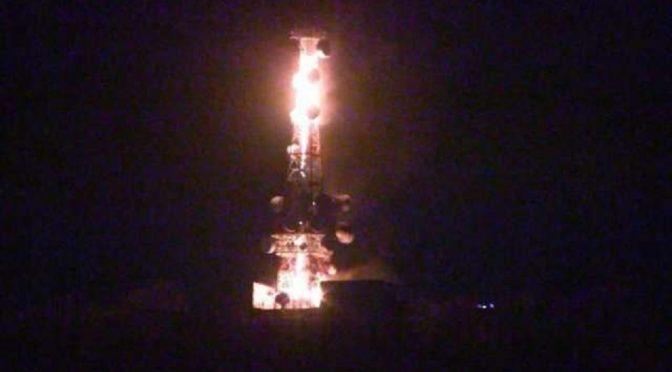 Genua, Włochy: Podpalenie masztu komunikacyjnego Righi Telecommunications