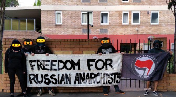 Sydney, Australia: Akcja solidarnościowa z rosyjskimi anarchistami i antyfaszystami