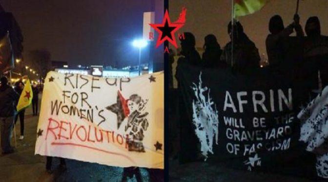 USA: Rewolucyjny Ruch Abolicjonistyczny – akty solidarności z Afrin (wideo)