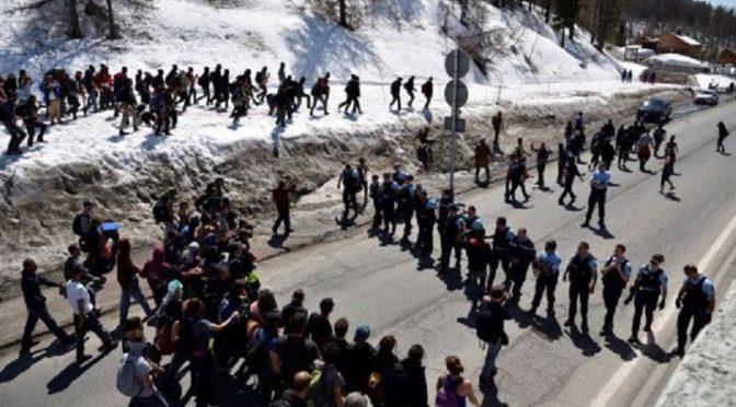 Włochy / Francja: Marsz antygraniczny