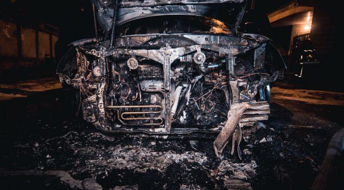 Kijów, Ukraina: Lexus należący do neoliberalnego polityka pochłonięty przez płomienie (wideo)