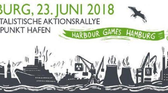 Hamburg, Niemcy: Antykapitalistyczny wiec akcji 23 czerwca – port w Hamburgu