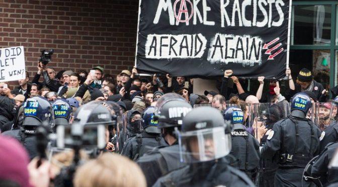 Waszyngton, USA: Prokuratura porzuca wszystkie oskarżenia przeciwko protestującym w dniu inauguracji Trumpa