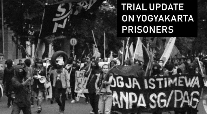 Indonezja: Aktualizacja o anarchistycznych więźniach z Yogyakarty