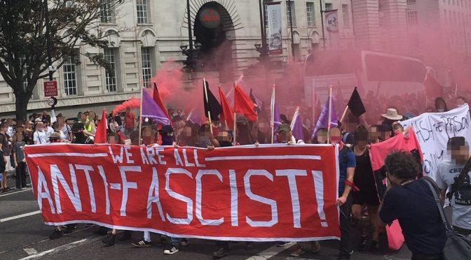 Londyn, Wielka Brytania: Wszyscy jesteśmy antyfaszystami! Krótka relacja z kontrmanifestacji przeciwko zwolennikom Tommiego Robinsona