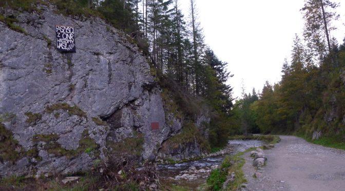 Dolina Kościeliska, Podhale: Baner na powitanie faszystów z ONR