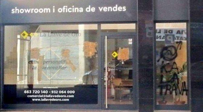 Madryt, Hiszpania: Ataki na agencje nieruchomości w solidarności ze skłotami