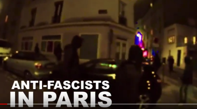 Paryż, Francja: Antyfaszystowski atak na biuro Generation Identity (wideo)