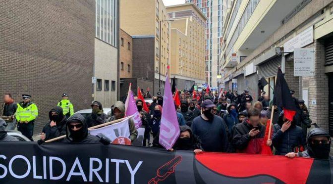 Londyn, Wielka Brytania: Setki na demie solidarnościowym z rosyjskimi antyfaszystami