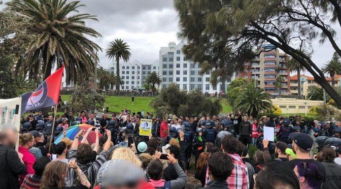 Australia, Melbourne: Antyfaszystowska kontr-demonstracja