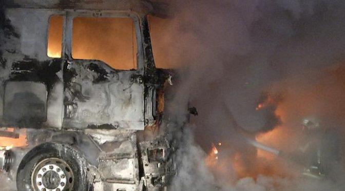 Bremen, Niemcy: Dwie ciężarówki niemieckiej armii spłonęły w przeddzień posiedzenia NATO