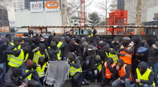 Walki między ultra-lewicowymi, a ultra-prawicowymi żółtymi kamizelkami we Francji