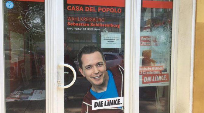 """Berlin, Niemcy: Atak na biuro lewicowej partii """"Die Linke"""""""
