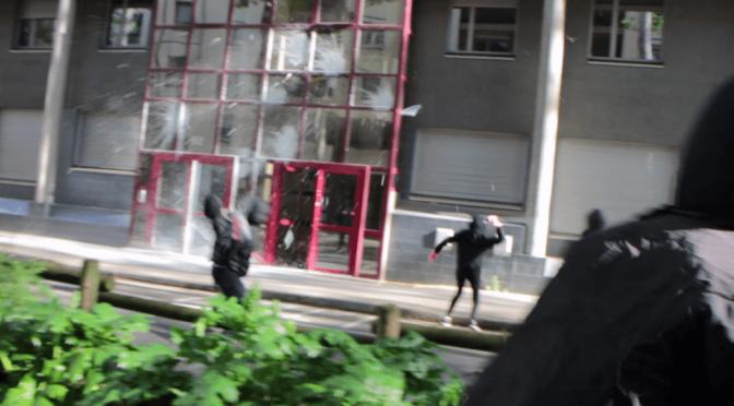 Lyon, Francja: 1 majowa akcja przeciwko policji granicznej