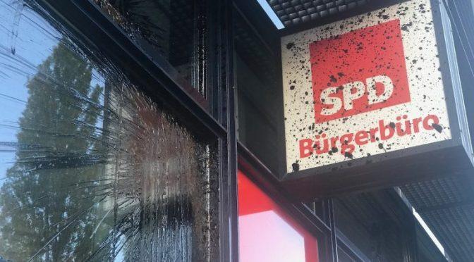 Berlin, Niemcy: Atak na główną siedzibę SPD w solidarności z Rożawą (wideo)