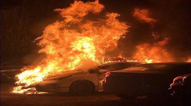 Kijów, Ukraina: Podpalenie radiowozu (wideo i komunikat)