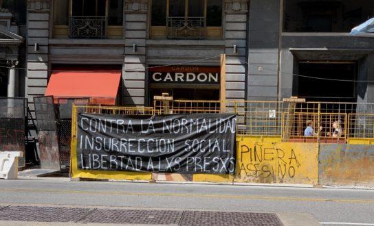Buenos Aires, Argentyna: Propaganda Solidarnościowa z Rewoltą w Chile
