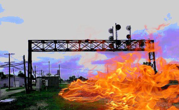 Kanada: Niech płonie twój ogień! Solidarnościowy sabotaż linii kolejowej w Burlington