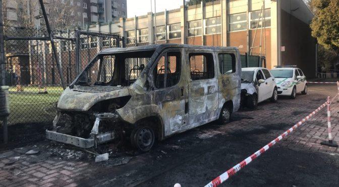 Włochy, Mediolan: Podpalenie na terenie lokalnej szkoły policyjnej