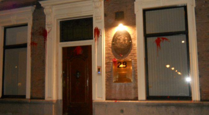 Niderlandy, Haga: Kobietobójcze państwo Meksyk- atak farbami na ambasadę