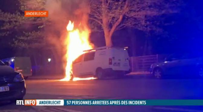 Bruksela, Belgia: Aresztowano 100 osób za udział w anty policyjnych zamieszkach po zabójstwie 19 latka przez policję