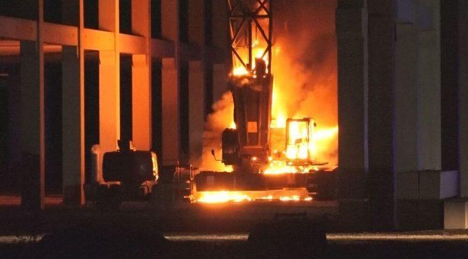 Achim, Niemcy: Ognisty sabotaż na placu budowy nowego centrum Amazona