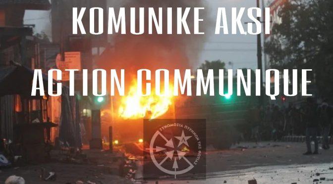 Yogyakarta, Indonezja: Konspiracyjne Komórki Ognia/Akcja Nemezis bierze odpowiedzialność za podpalenie luksusowego samochodu