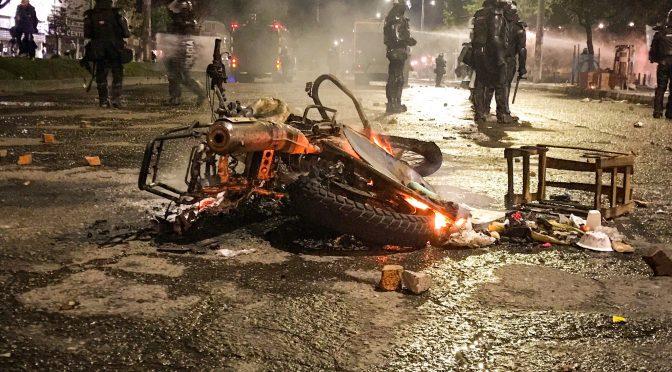Bogota, Kolumbia: Zaatakowano posterunek policji, 3 policjantów rannych